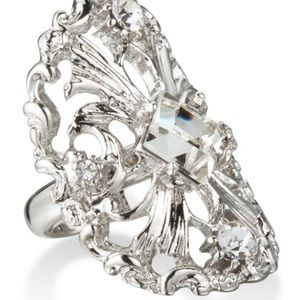 Baroque-style cocktail ring
